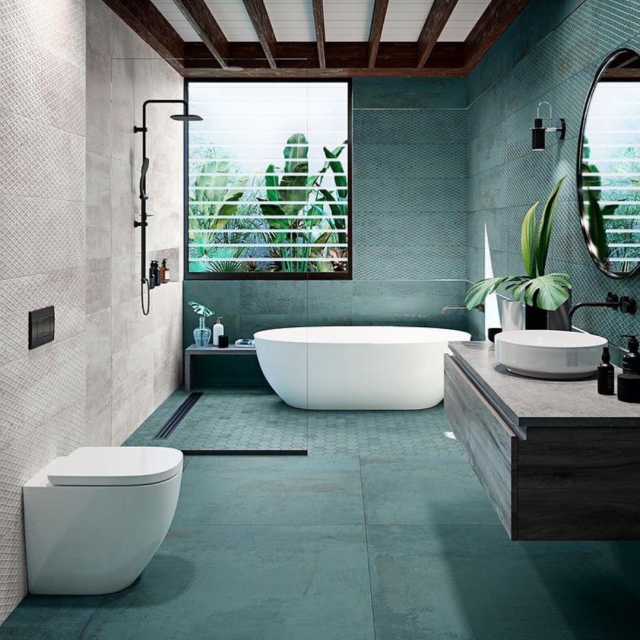 Pop in and view the gorgeous Metallic Verdegris tile. More stock due in soon 🙌