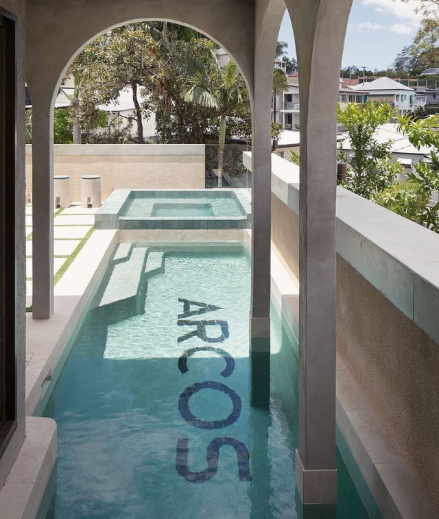 The Spa. Our Barlavento porcelain tile featured pride and place in Villa Arcos ! @bygraya ❤️