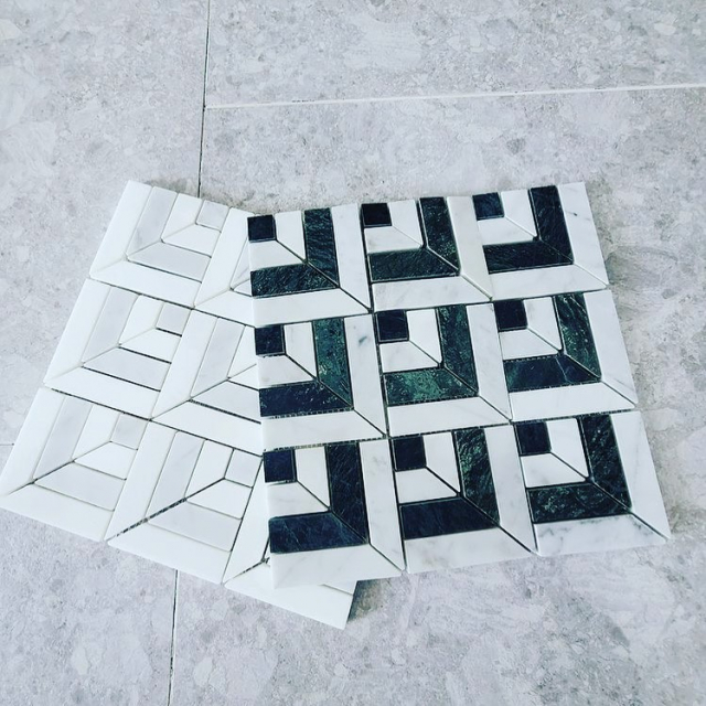 These timeless Marmo ponti mosaic samples by @gregnatale have just arrived in our showroom for an excited client 🙌❤️