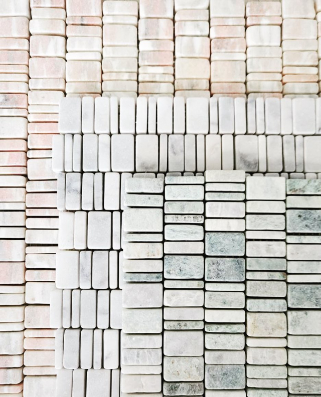 Although we are closed on Saturday feel free to pop in on Tuesday and see these stunning brand new marble products from @urbantileco